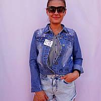 Куртка джинсовая женская классическая с заклепками