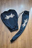 Черный спортивный костюм Tapout