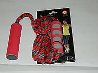 Скакалка IronMaster,плетеный канат, PP ручка+неопрен,блистер IR97110 Распродажа