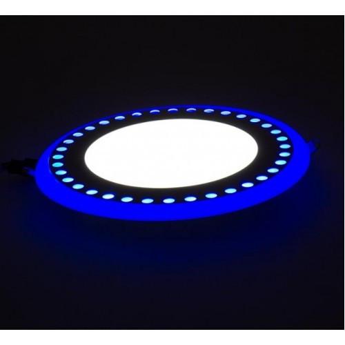 LED панель Lemanso LM542 Точечки круг 6+3W синяя подсветка 1080Lm 4500K
