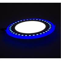 LED панель Lemanso LM542 Точечки круг 6+3W синяя подсветка 1080Lm 4500K, фото 1