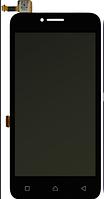 Дисплей Lenovo A1010 A Plus (A1010a20) леново с тачскрином в сборе, цвет черный