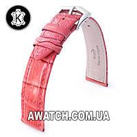 Ремешок кожаный Catfskin для наручных часов с классической застежкой, коралловый, 14 мм