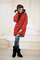 """Пальто женское на овчине"""" Аляска """" - батал"""