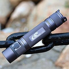 Диодный фонарь EagleEye X2R XM-L2 U3-1A со встроенной зарядкой (Convoy S2+ + micro-USB / широкоугольный) СЕРЫЙ