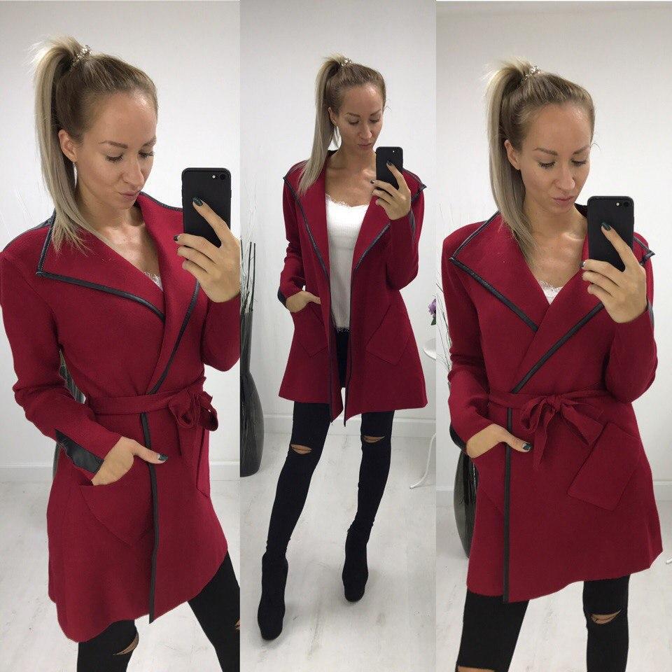 Женское пальто-тренч кашемир.