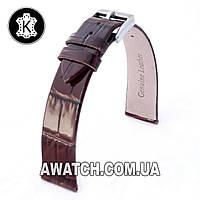 Ремешок кожаный Catfskin для наручных часов с классической застежкой, коричневый, 12 мм