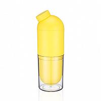 Бутылка для воды со стаканом (желтая)