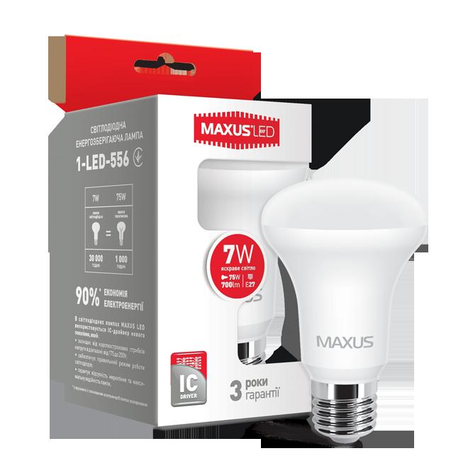LED ЛАМПА MAXUS R63, 7W, E27, 3000К, 4100К