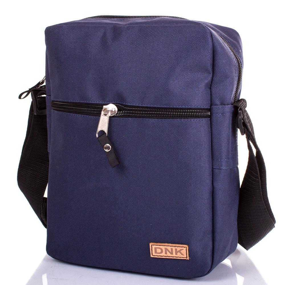 Компактная мужская сумка-планшет DNK LEATHER DNK-CLASSIC-BAG.COL.03 синий