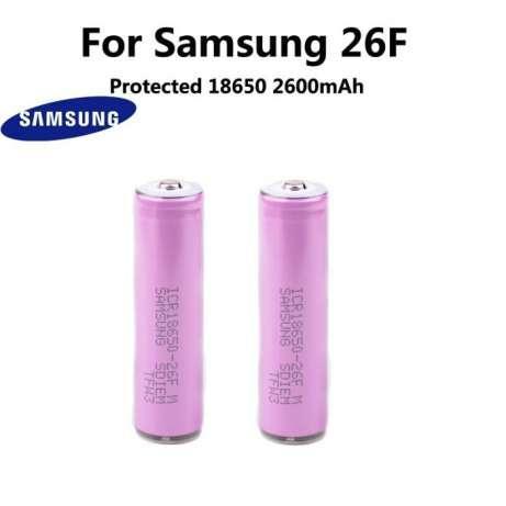 Акумулятори з захистом Samsung 2600mah icr18650-26fm
