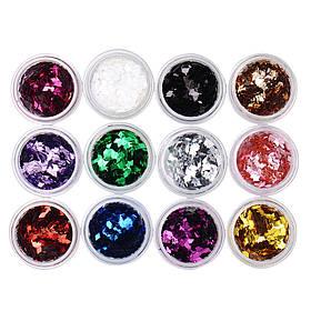 Набор ромбов 12 шт для дизайна ногтей