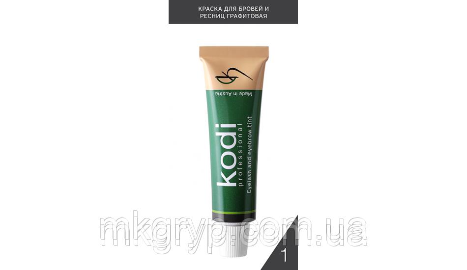 Фарба для брів і вій № 1 графітова (15 ml)
