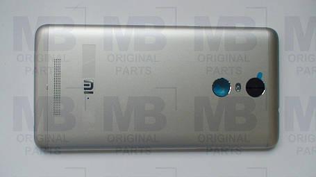Задняя крышка (панель)  Xiaomi Redmi Note 3 Silver, оригинал!, фото 2