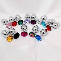 Металлическая анальная пробка Jewelry Silver малый размер
