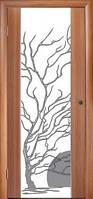 """Двери ГЛАЗГО Тик """"Дерево с солнцем"""""""