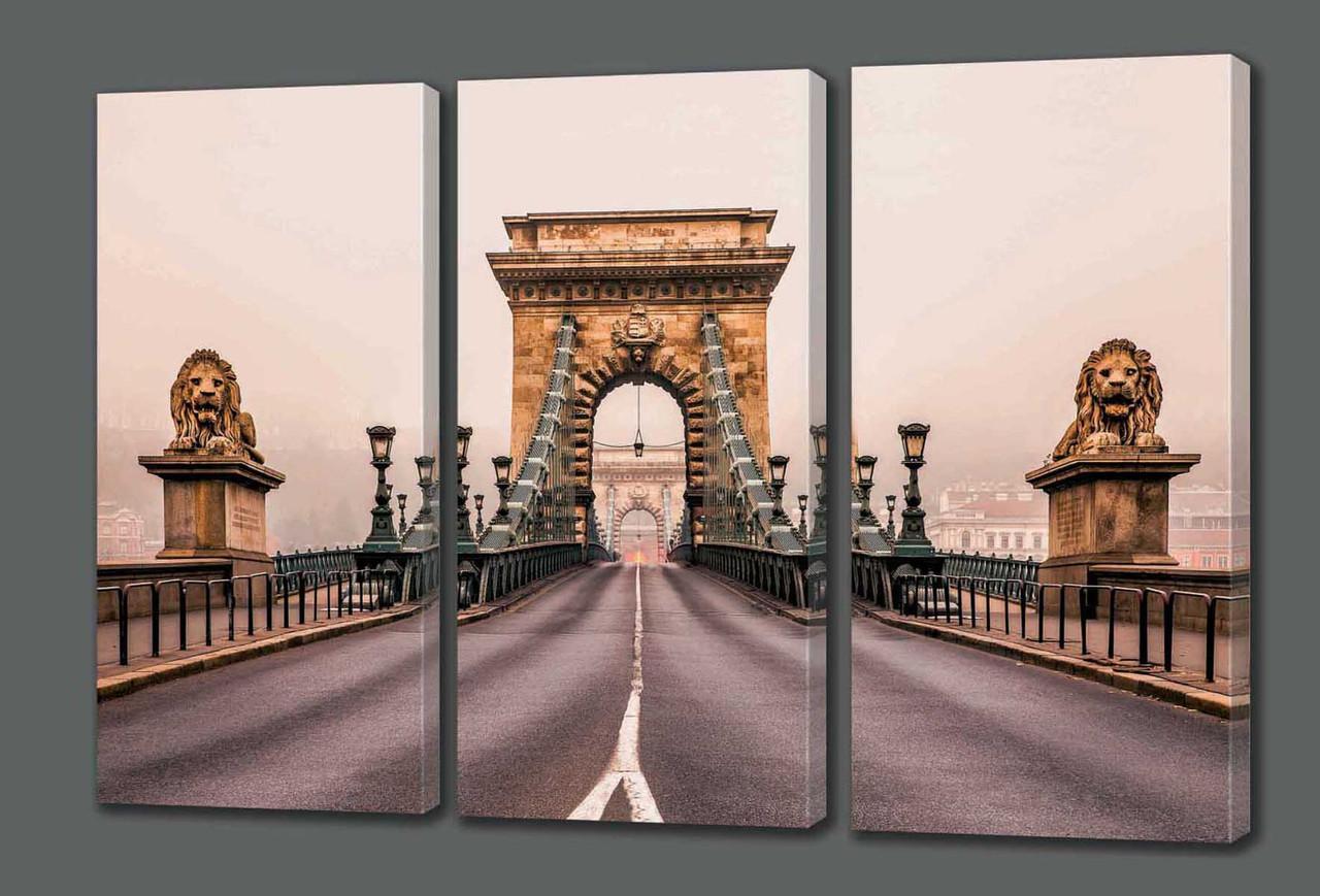 Картина модульная  Цепной мост Сечени. Будапешт 124*70 см