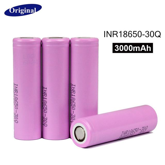 Аккумуляторы высокотоковые 20АSamsung 3000mah INR18650-30Q без защиты