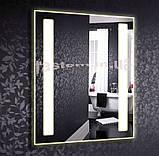 Дзеркало з LED підсвічуванням настінне d-52 600х800мм, фото 2