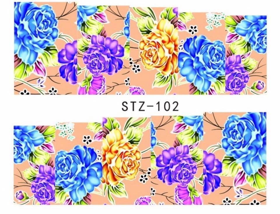 Слайд для дизайна ногтей STZ-102