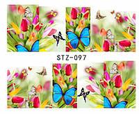 Слайд для дизайна ногтей STZ-97