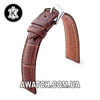 Ремешок кожаный Catfskin для наручных часов с классической застежкой, коричневый, 24 мм