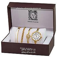 Женские кварцевые дизайнерские часы  Anne Klein+3 браслета