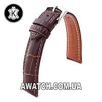 Ремешок кожаный Catfskin для наручных часов с классической застежкой, коричневый, 20 мм