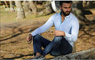 Рубашки мужские Rubaska Турция длинный рукав