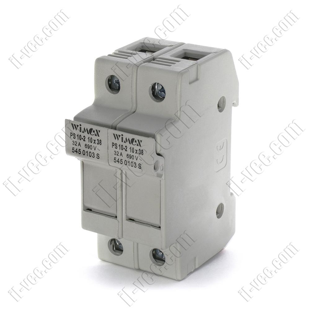 Разъединитель-предохранитель PS 10-2 10x38 32A 690V 2P Wimex