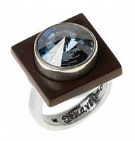 "Кольцо ""Моаби"" с кристаллами Swarovski, покрытое серебром (r7353046)"