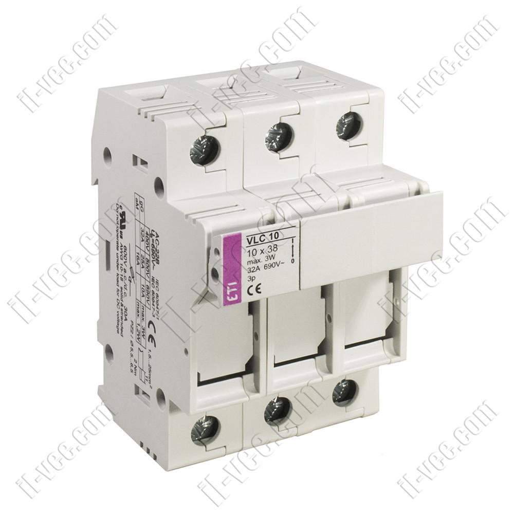 Разъединитель-предохранитель VLC10 10x38 32A 690V 3P ETI