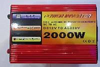 Преобразователь POWER INVERTER 2000 W + UPS 12 V/220