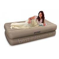 Intex 66708 (99х191х48 см.) + 220V. Надувная односпальная диван-кровать Twin Rising Comfort Airbed