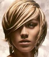 Окрашивание волос, краской Indola Blond 1длина до 15см