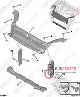 Передние поперечные части кузова (услитель, лонжерон, поперечина, балка радиаторная) Peugeot Partner M59 (2003-2008) 7209 95