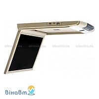 Автомобильный потолочный монитор Clayton SL-1570 Full HD BE с USB/SD, цвет бежевый