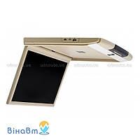 Автомобильный потолочный монитор Clayton SL-1740 Full HD BE с USB/SD, цвет бежевый