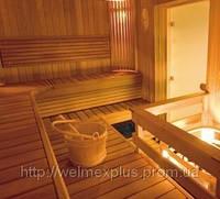 Строительство деревянной сауны 2100х2100 в доме под ключ