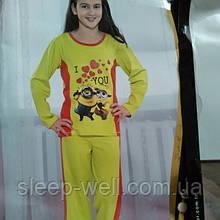Пижама детская, хлопок еластан