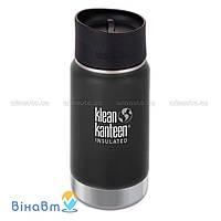 Термофляга Klean Kanteen Wide Vacuum Insulated Cafe Cap 2.0 355 мл Shale Black (matt)