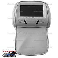 Подголовник с монитором Klyde Ultra 717 Gray с USB, SD, цвет серый