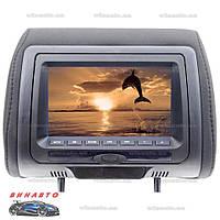 Подголовник с монитором Klyde Ultra 745 HD Black с DVD, USB, SD, цвет черный