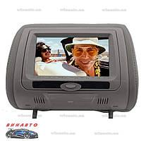 Подголовник с монитором Klyde Ultra 745 HD Gray с DVD, USB, SD, цвет серый