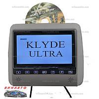 Подголовник с монитором Klyde Ultra 790 FHD Gray с DVD, USB, SD, цвет серый