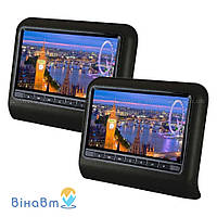 Накладка-монитор на подголовник Klyde Ultra 909D Black (комплект) с DVD, USB, SD, HDMI