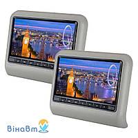 Накладка-монитор на подголовник Klyde Ultra 909D Gray (комплект) с DVD, USB, SD, HDMI