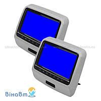 Накладка-монитор на подголовник Klyde Ultra 910D Gray (комплект) с DVD, USB, SD