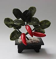 Перец из натурального камня (нефрит и змеевик)
