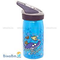 Бутылка для воды Laken Tritan Jannu Kukuksumusu 0,45 л Delfin Blue (KTN4-D)